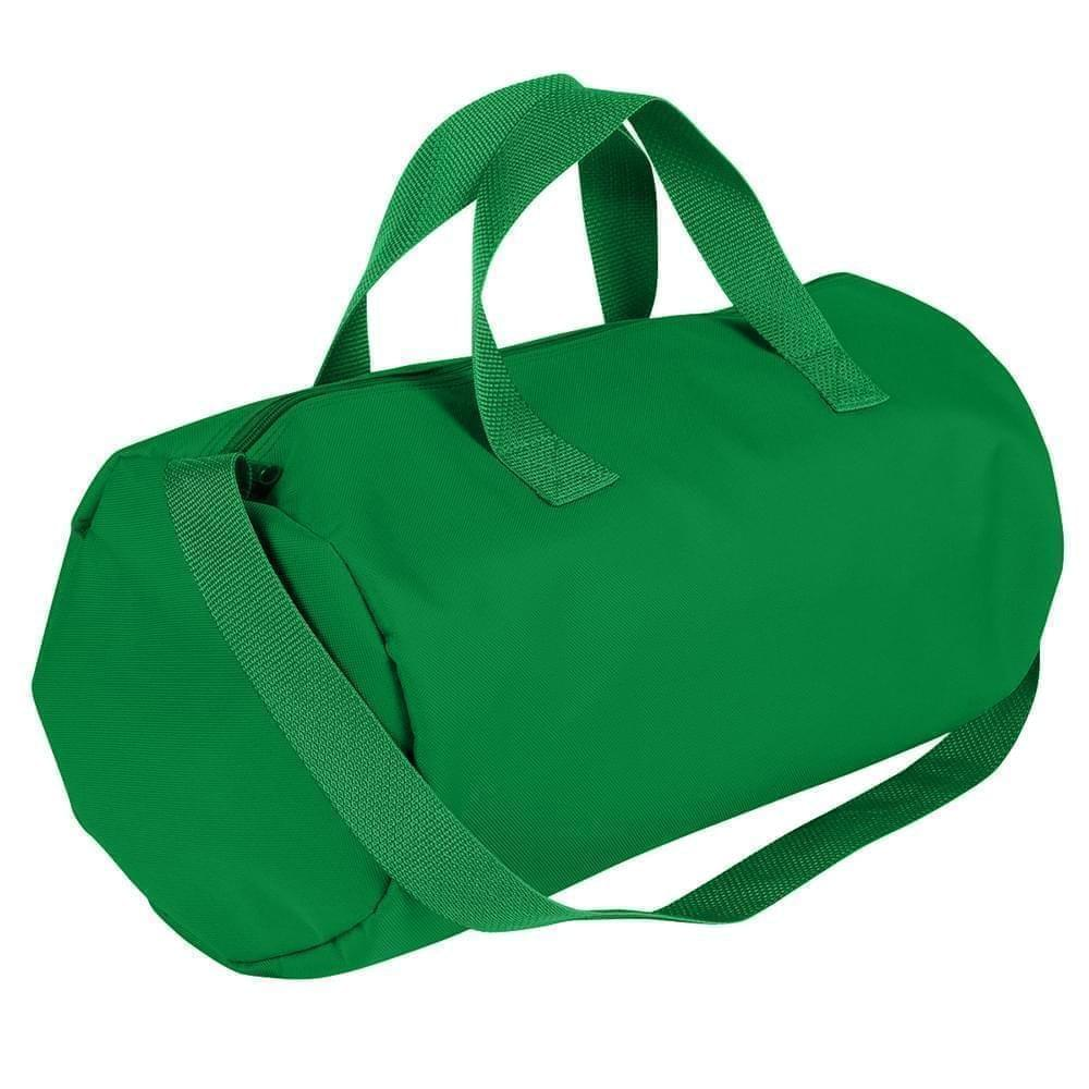 USA Made Nylon Poly Gym Roll Bags, Kelly Green-Kelly Green, ROCX31AATW