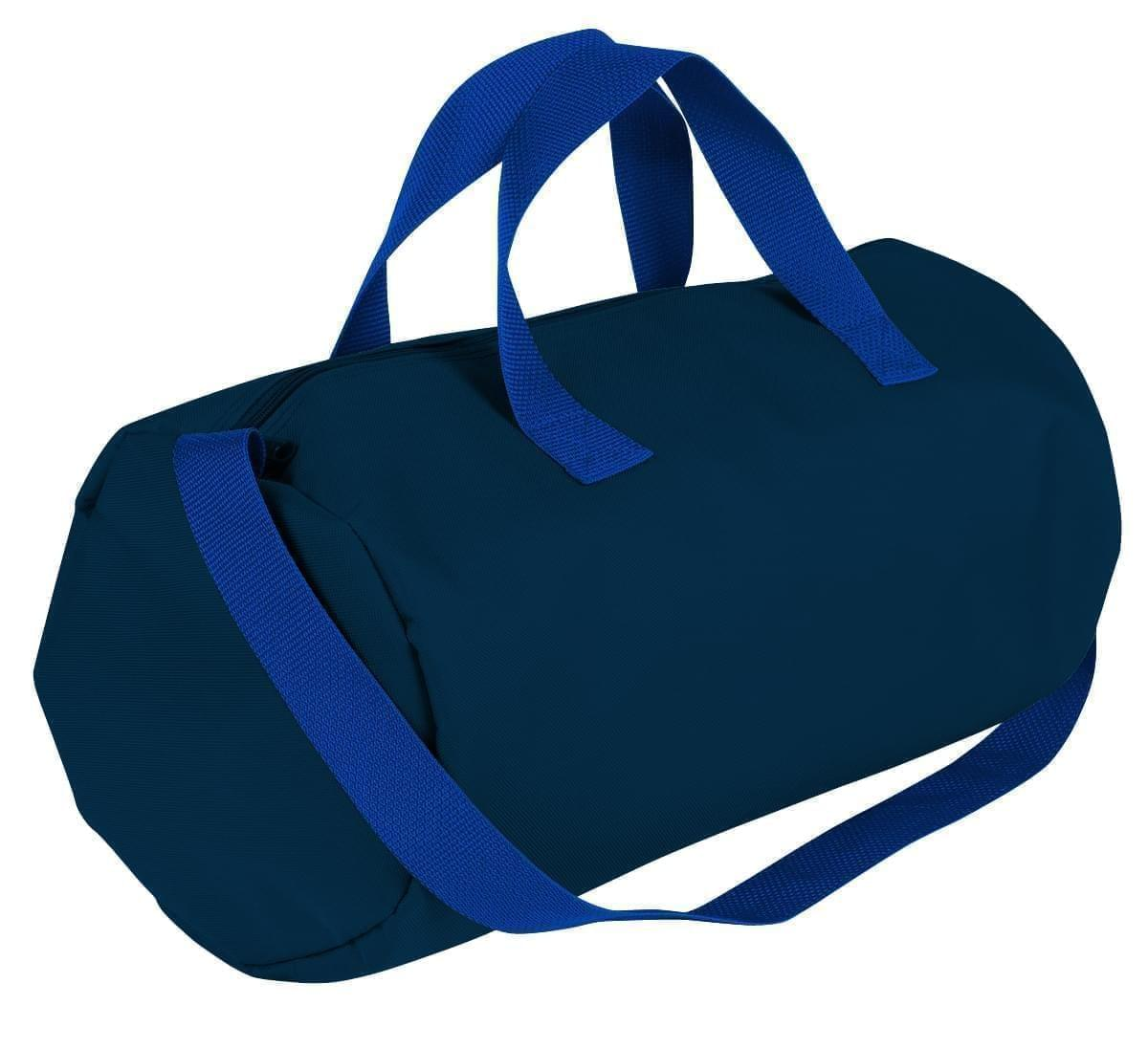 USA Made Nylon Poly Gym Roll Bags, Navy-Royal Blue, ROCX31AAW3