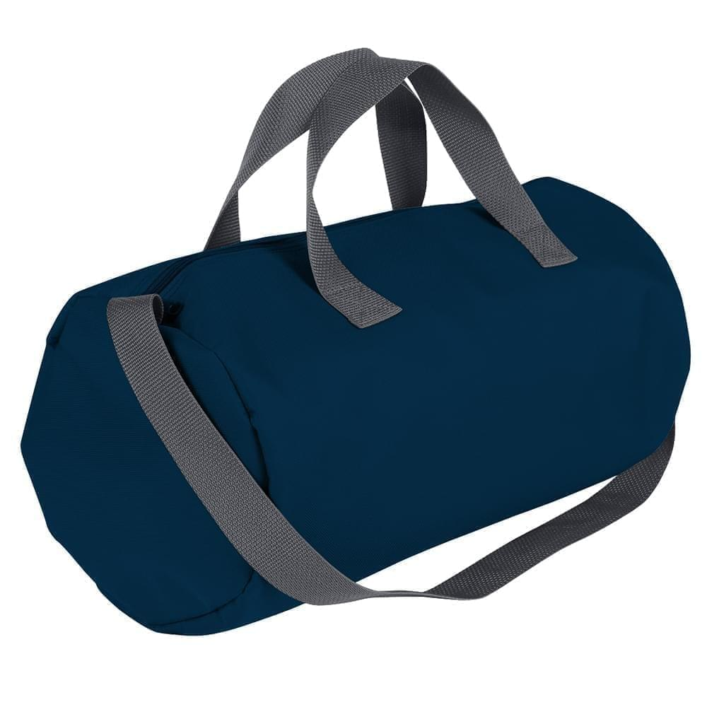 USA Made Nylon Poly Gym Roll Bags, Navy-Graphite, ROCX31AAWT
