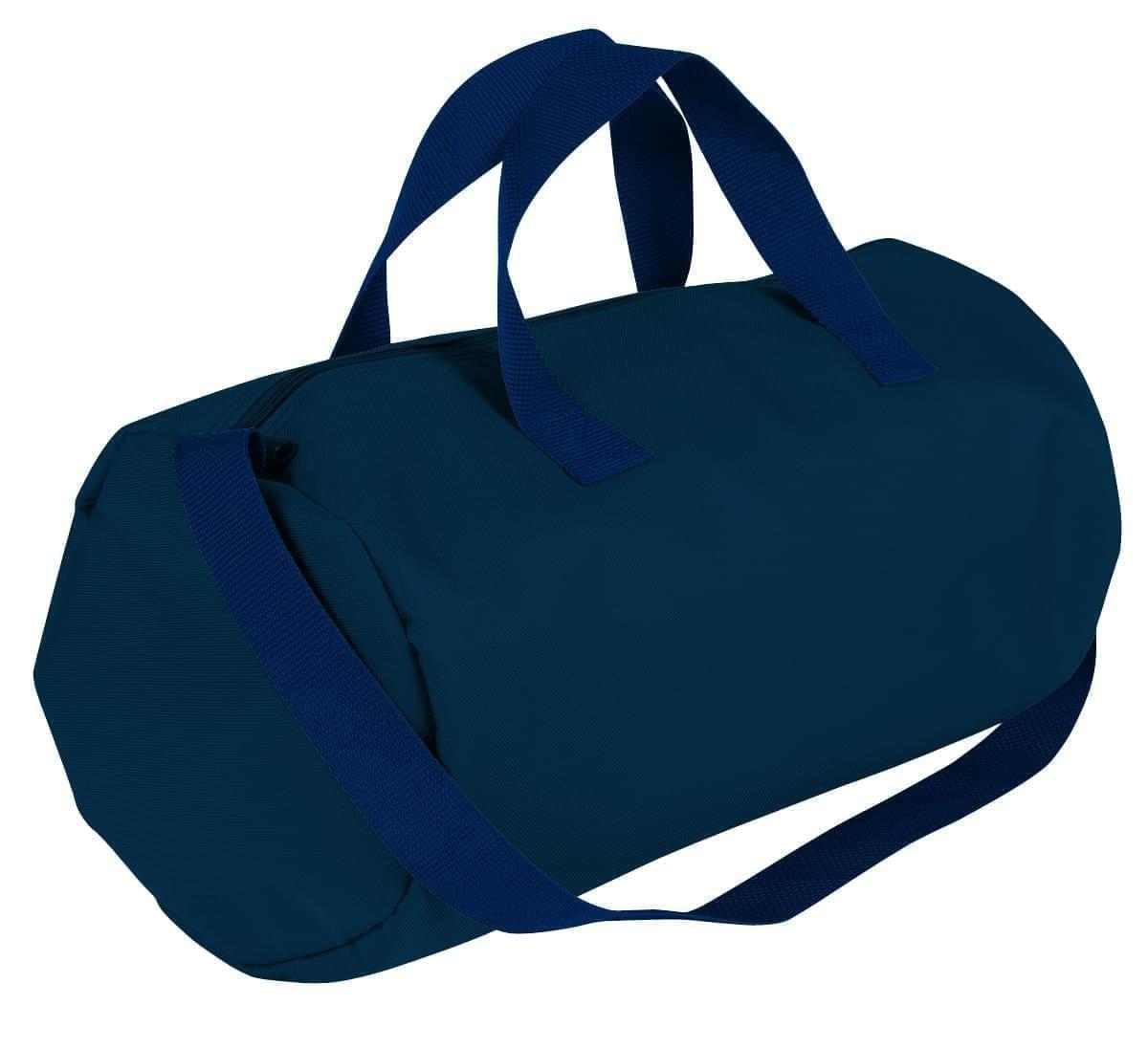 USA Made Nylon Poly Gym Roll Bags, Navy-Navy, ROCX31AAWZ