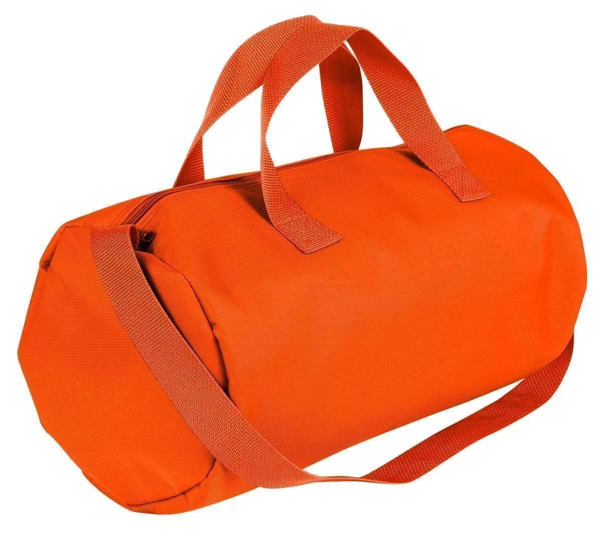 USA Made Nylon Poly Gym Roll Bags, Orange-Orange, ROCX31AAX0