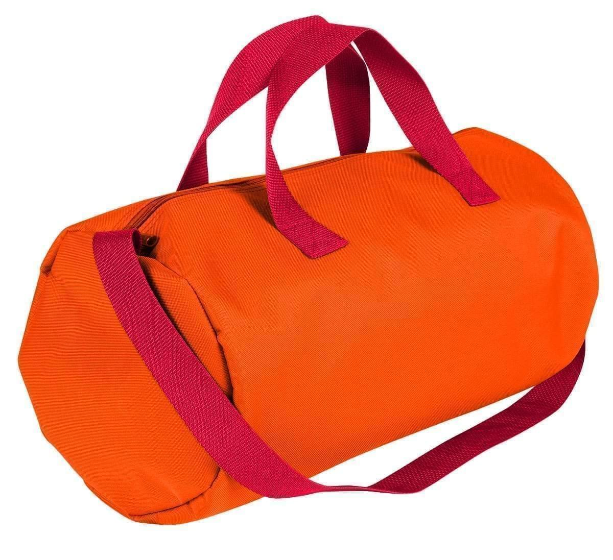USA Made Nylon Poly Gym Roll Bags, Orange-Red, ROCX31AAX2