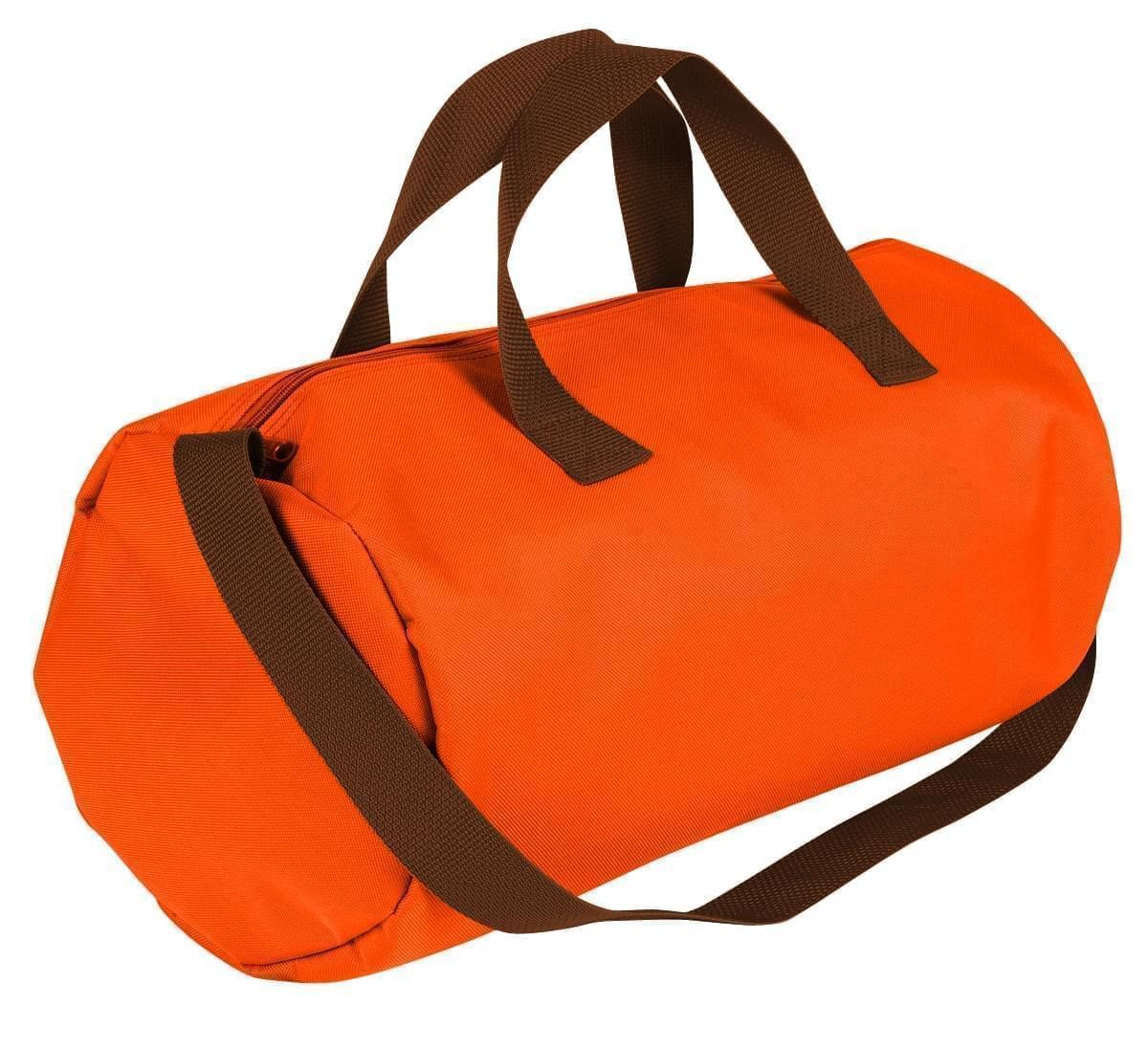 USA Made Nylon Poly Gym Roll Bags, Orange-Brown, ROCX31AAXS
