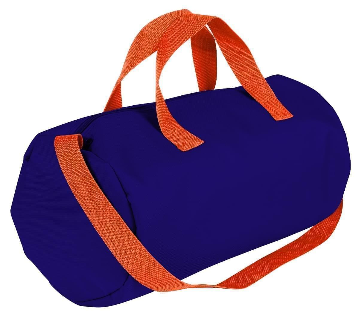 USA Made Nylon Poly Gym Roll Bags, Purple-Orange, ROCX31AAY0