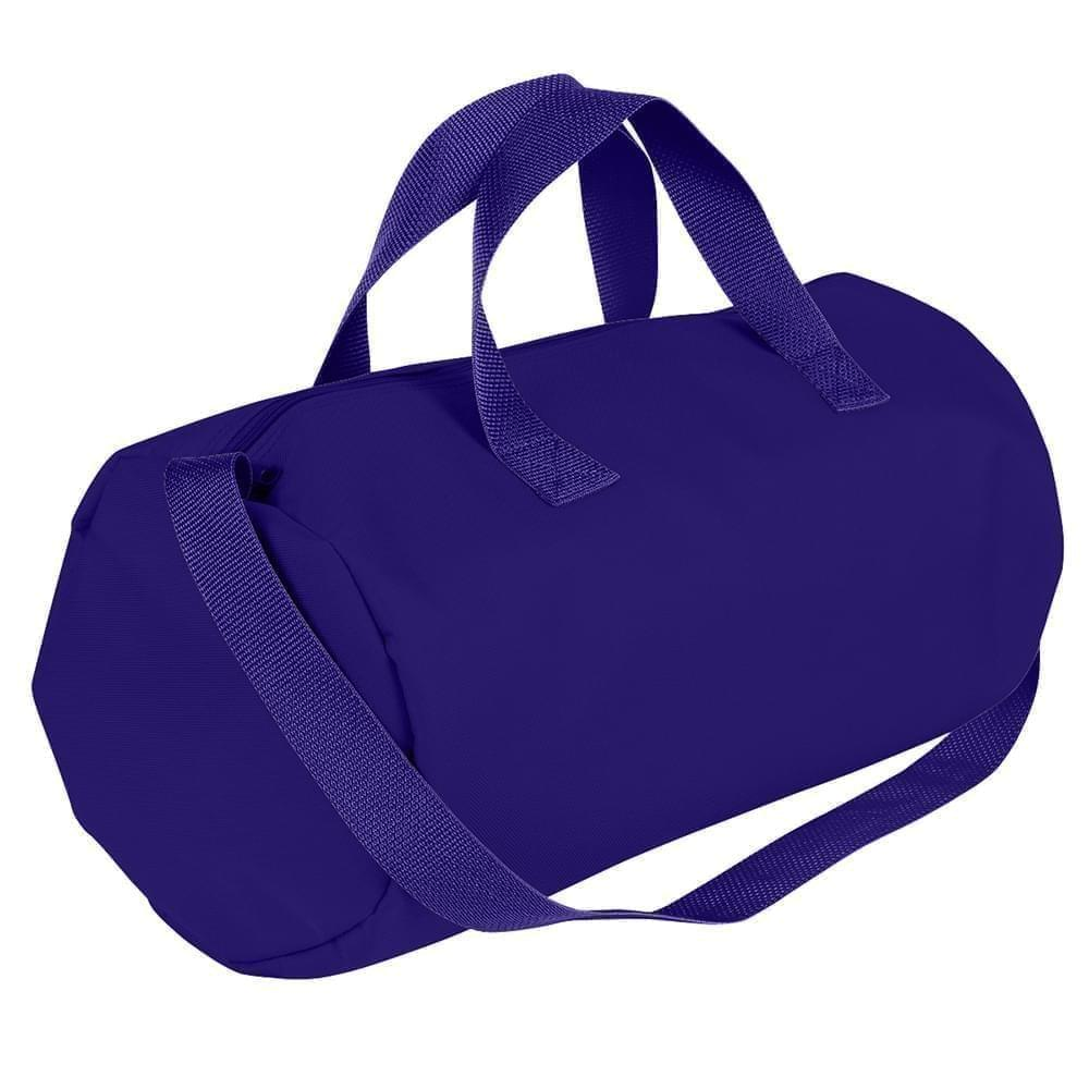 USA Made Nylon Poly Gym Roll Bags, Purple-Purple, ROCX31AAY1