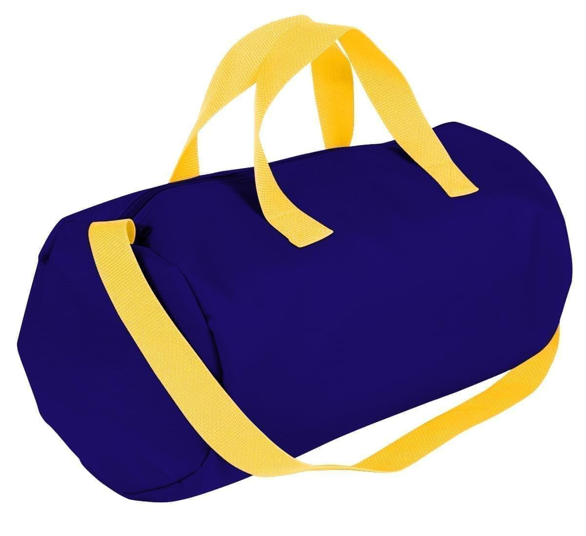 USA Made Nylon Poly Gym Roll Bags, Purple-Gold, ROCX31AAY5