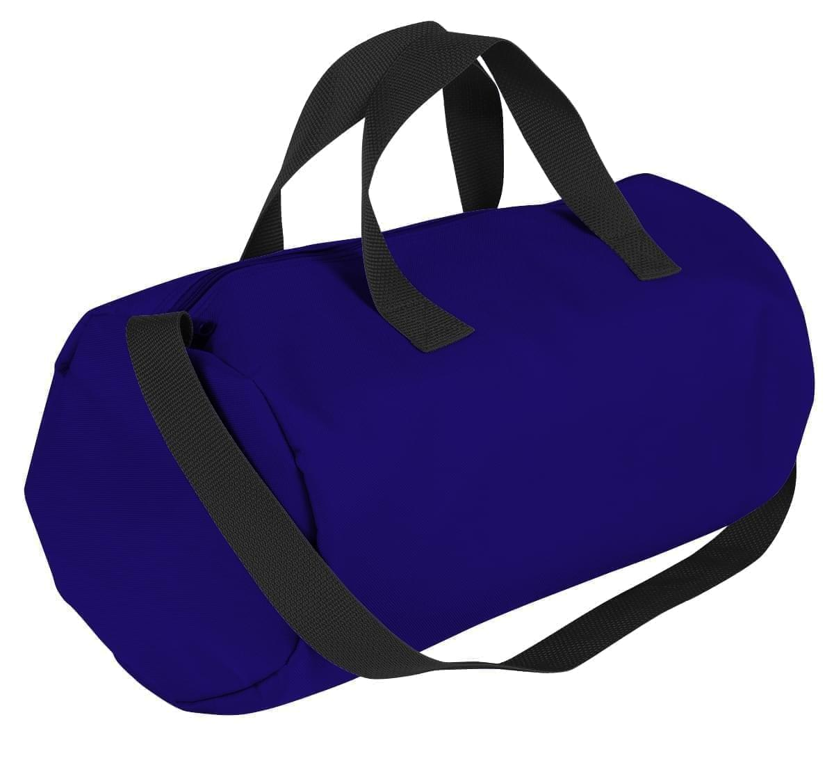 USA Made Nylon Poly Gym Roll Bags, Purple-Black, ROCX31AAYR