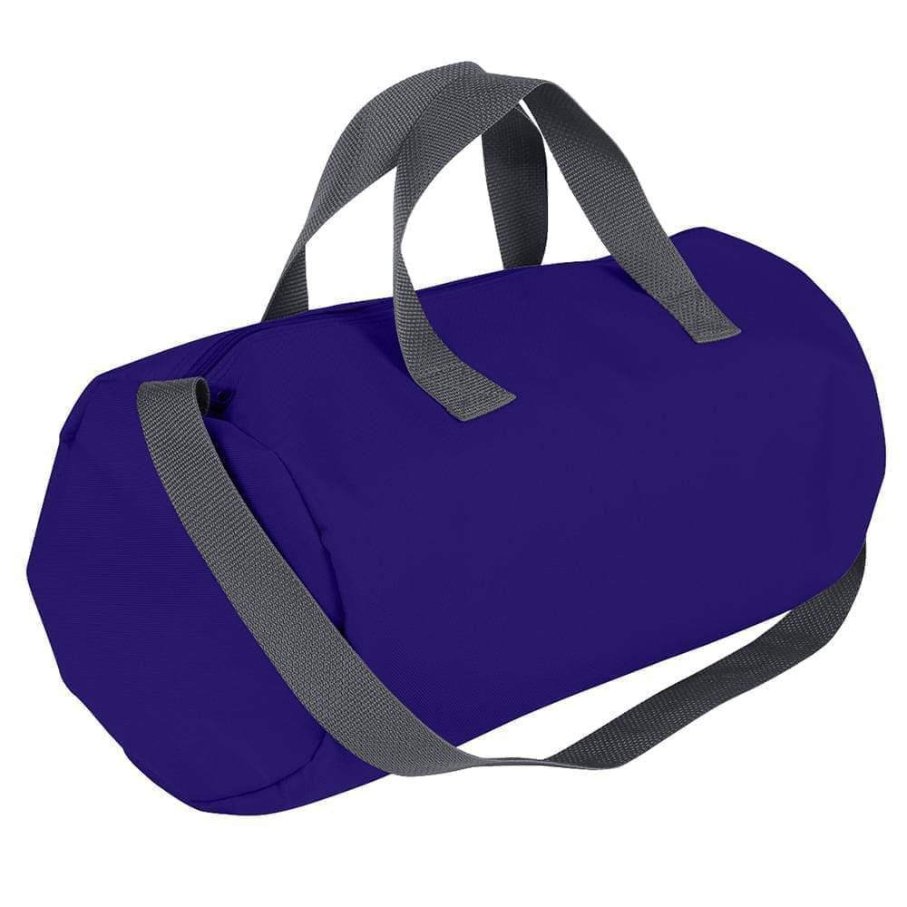 USA Made Nylon Poly Gym Roll Bags, Purple-Graphite, ROCX31AAYT