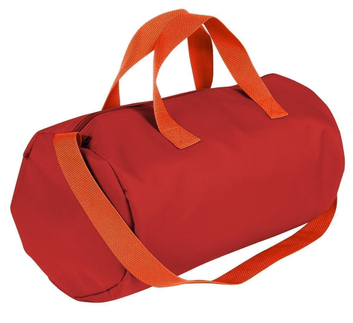 USA Made Nylon Poly Gym Roll Bags, Red-Orange, ROCX31AAZ0