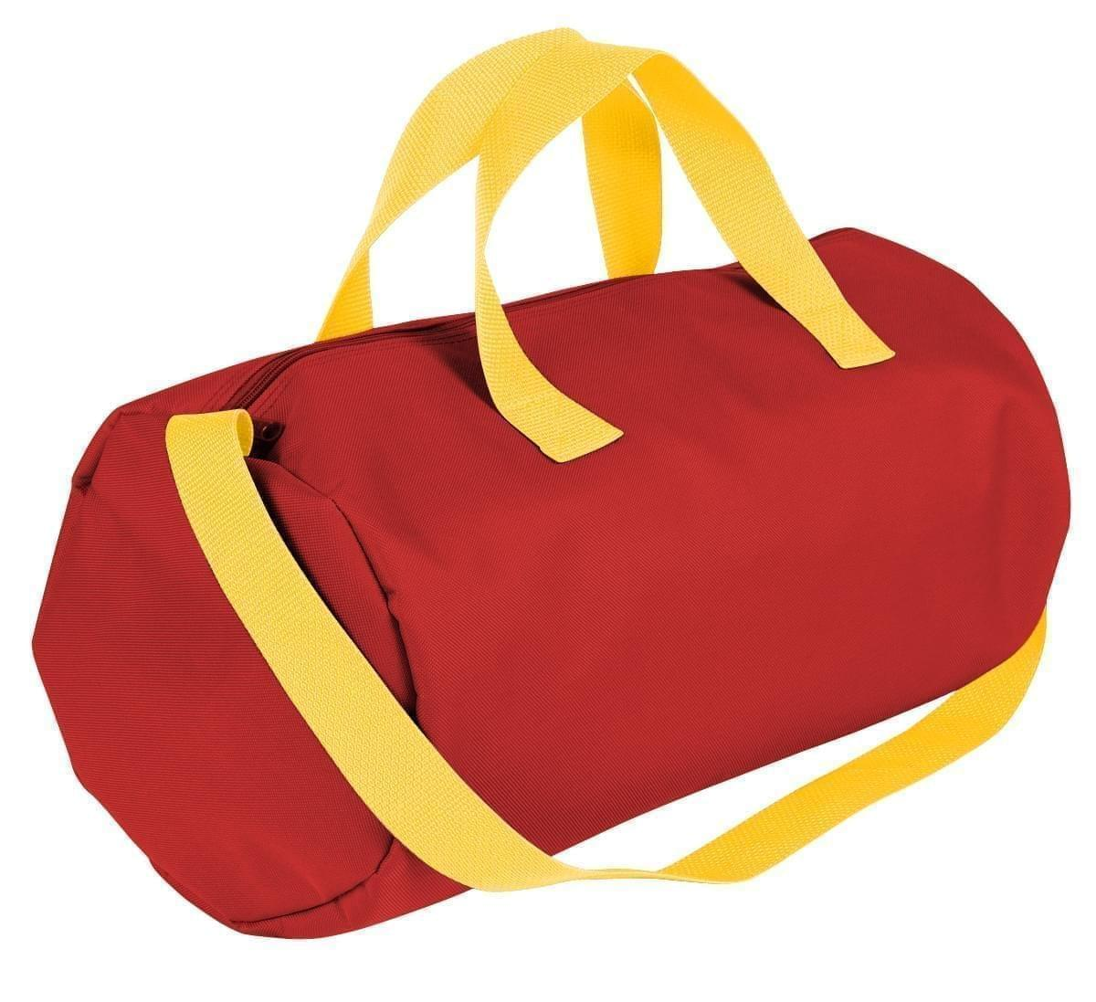 USA Made Nylon Poly Gym Roll Bags, Red-Gold, ROCX31AAZ5