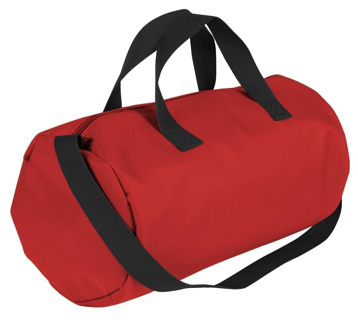 USA Made Nylon Poly Gym Roll Bags, Red-Black, ROCX31AAZR