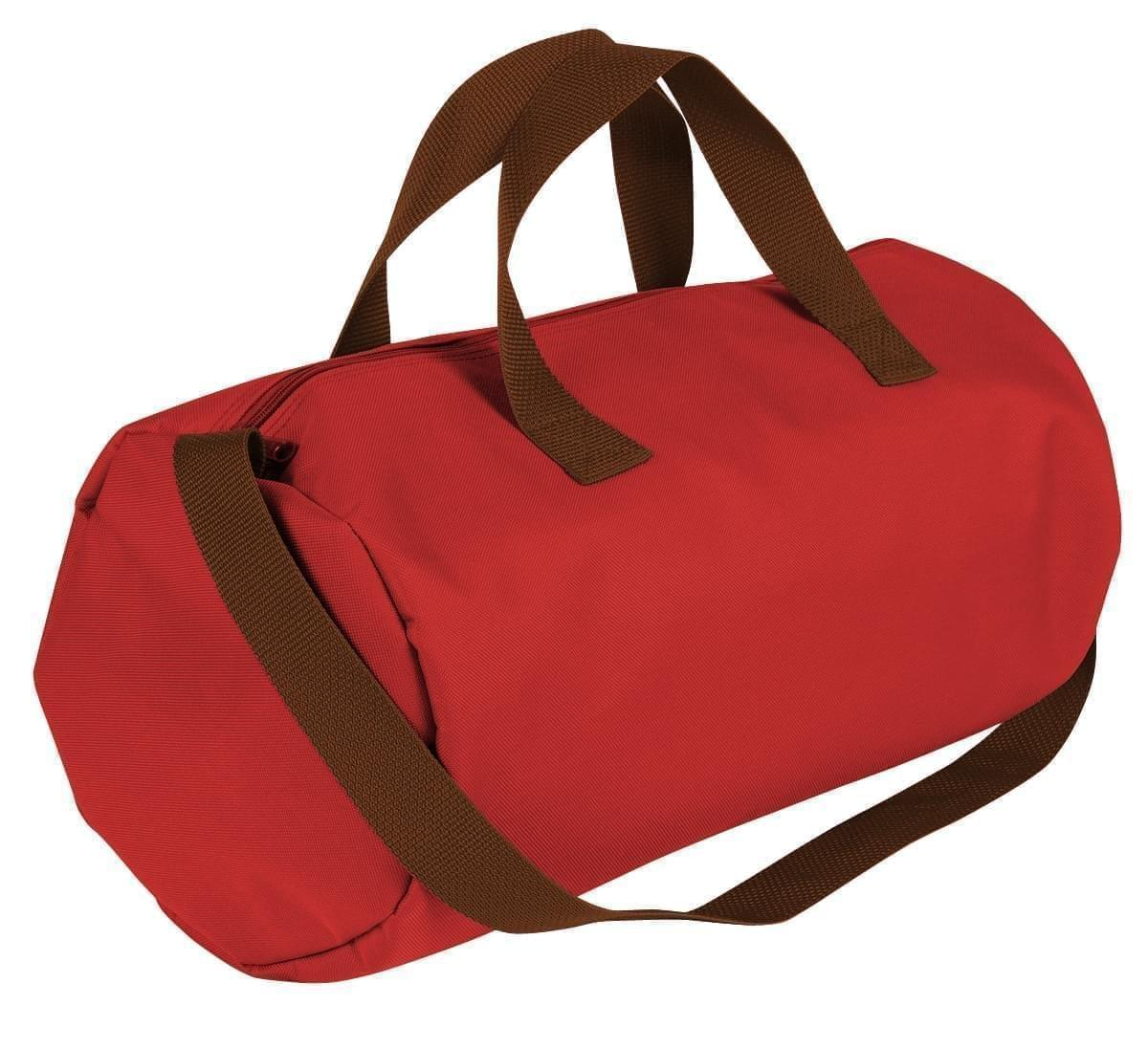 USA Made Nylon Poly Gym Roll Bags, Red-Brown, ROCX31AAZS