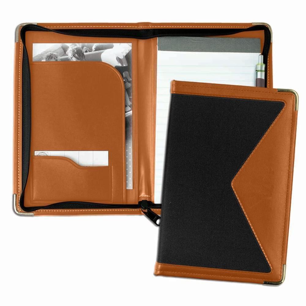Edge Junior Zipper Folder-Matte-Tan / Black