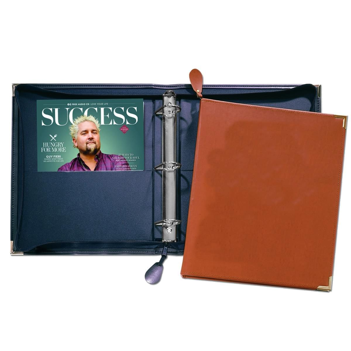"Zippered 1 1/2"" D-Ring Binder"