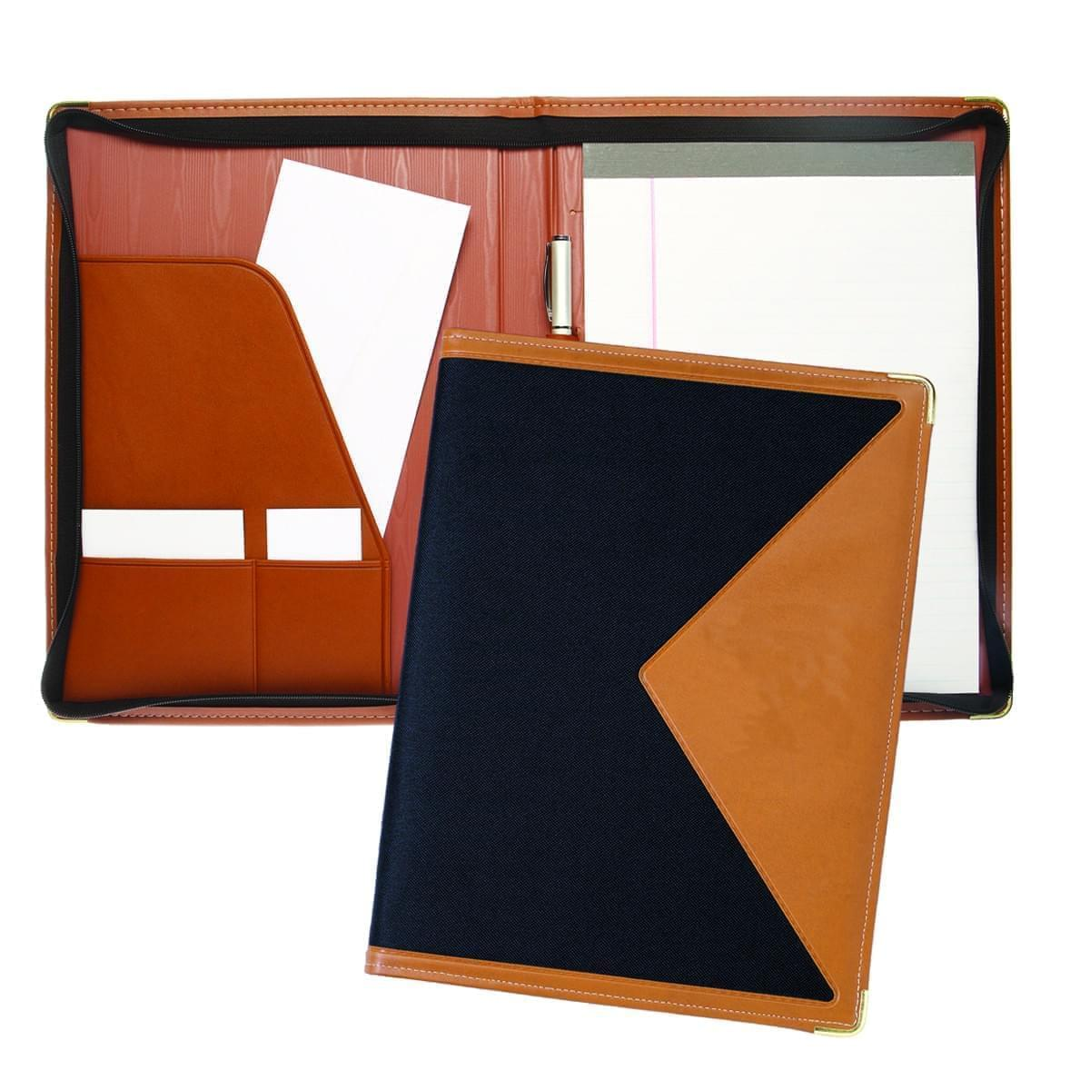 Edge Letter Zipper Folder