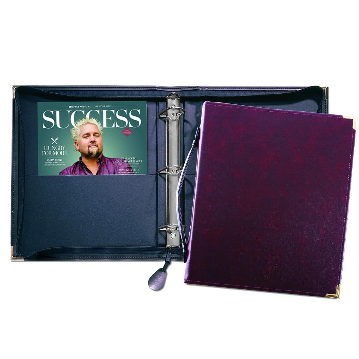 """Zippered 1 1/2"""" D-Ring Binder with Strap"""