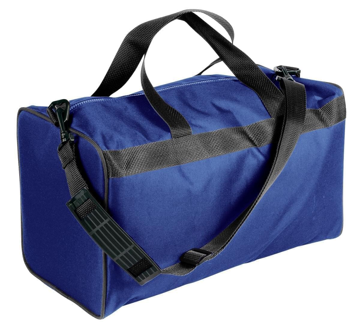USA Made Nylon Poly Weekend Duffles, Royal Blue-Black, WLKX31AA0R