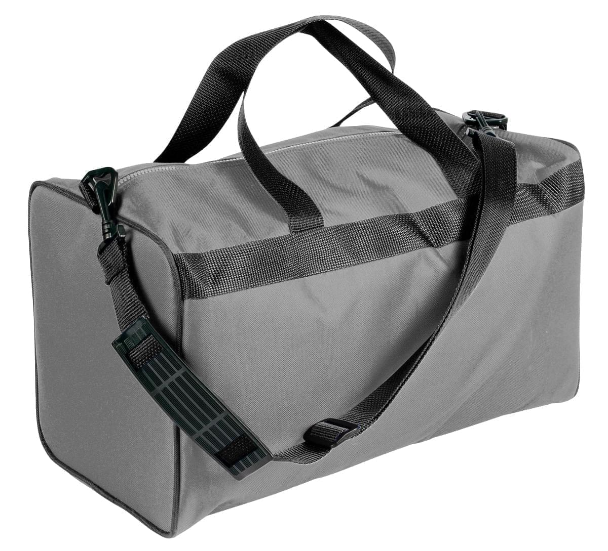 USA Made Nylon Poly Weekend Duffles, Grey-Black, WLKX31AA1R