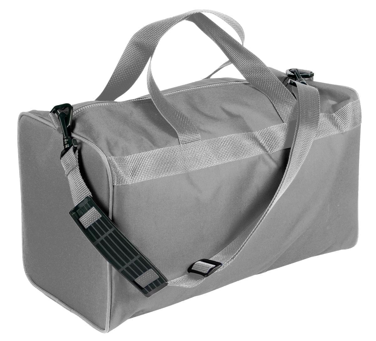 USA Made Nylon Poly Weekend Duffles, Grey-Grey, WLKX31AA1U