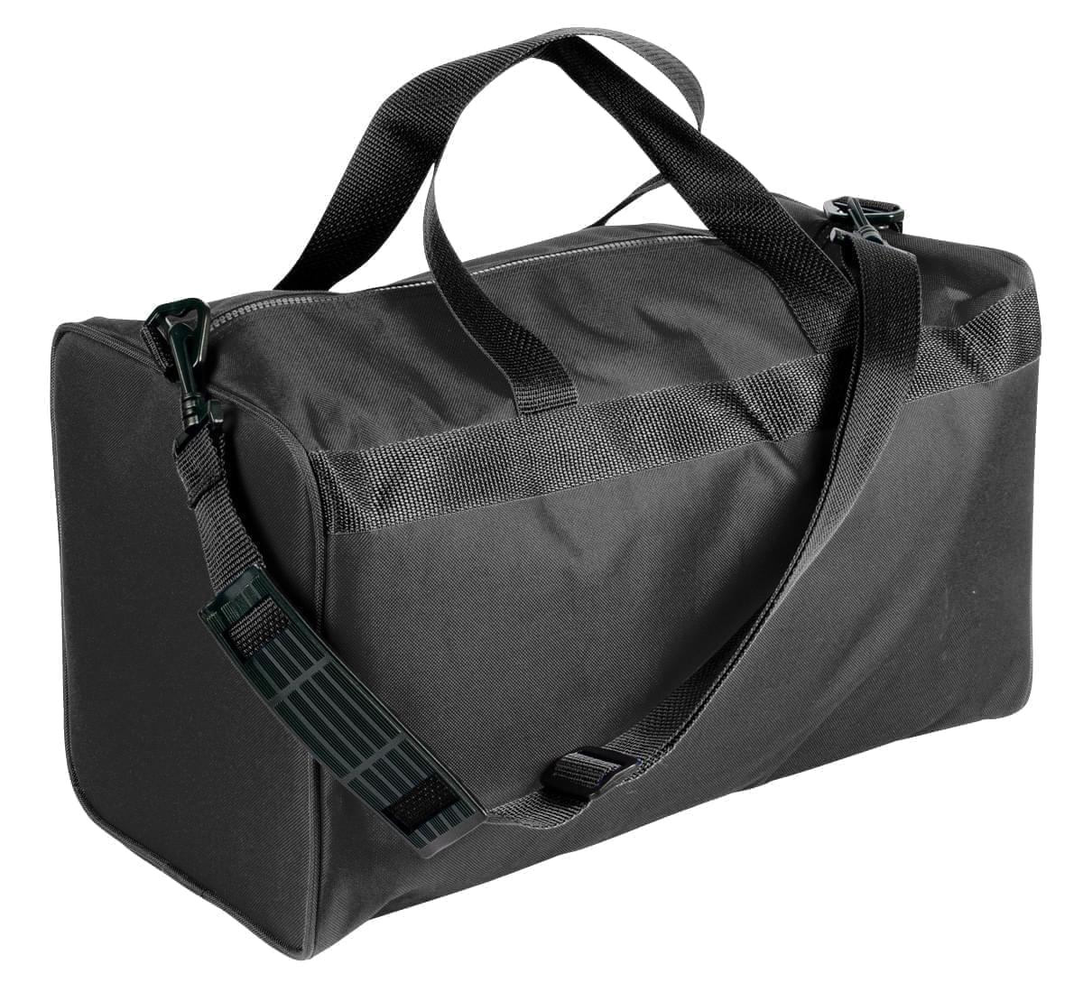 USA Made Nylon Poly Weekend Duffles, Black-Black, WLKX31AAOR