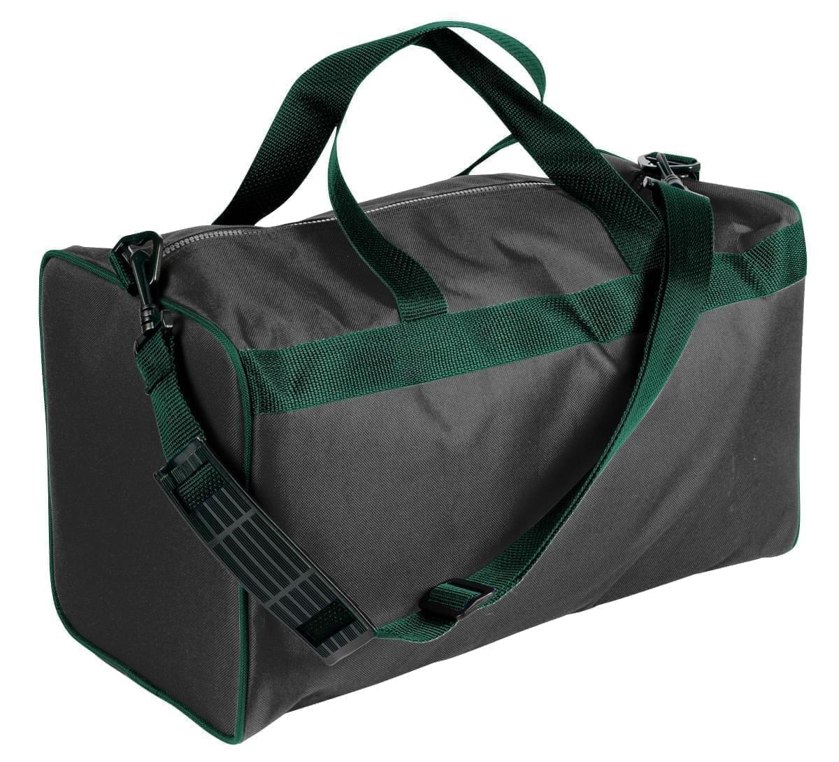 USA Made Nylon Poly Weekend Duffles, Black-Hunter Green, WLKX31AAOV
