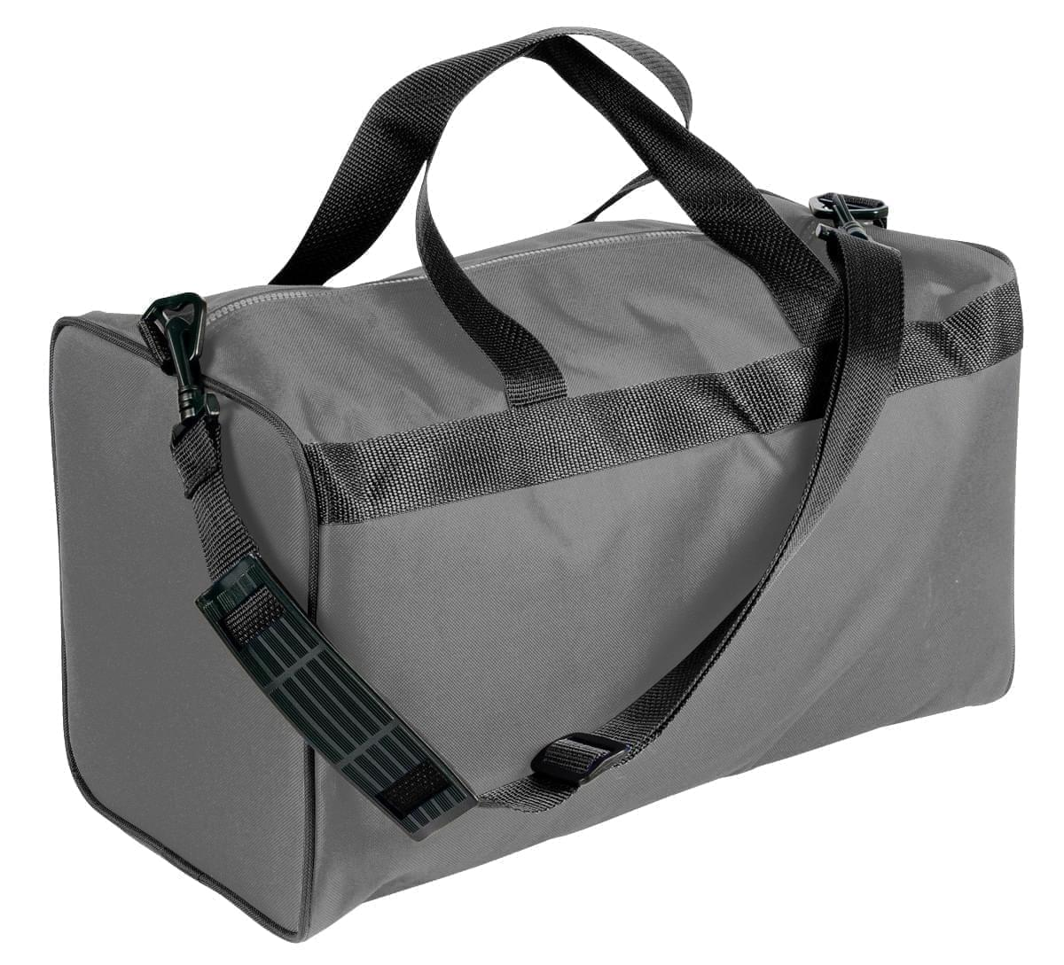 USA Made Nylon Poly Weekend Duffles, Graphite-Black, WLKX31AARR