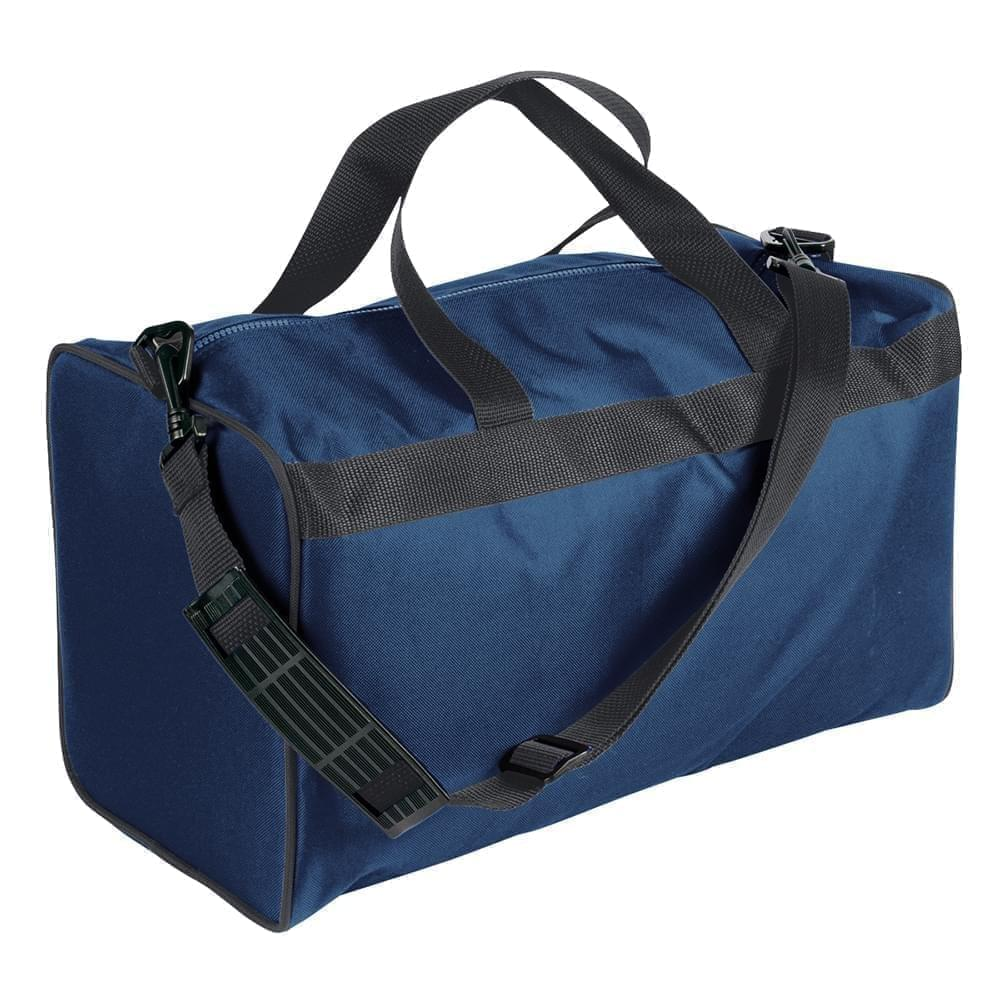 USA Made Nylon Poly Weekend Duffles, Navy-Graphite, WLKX31AAWT