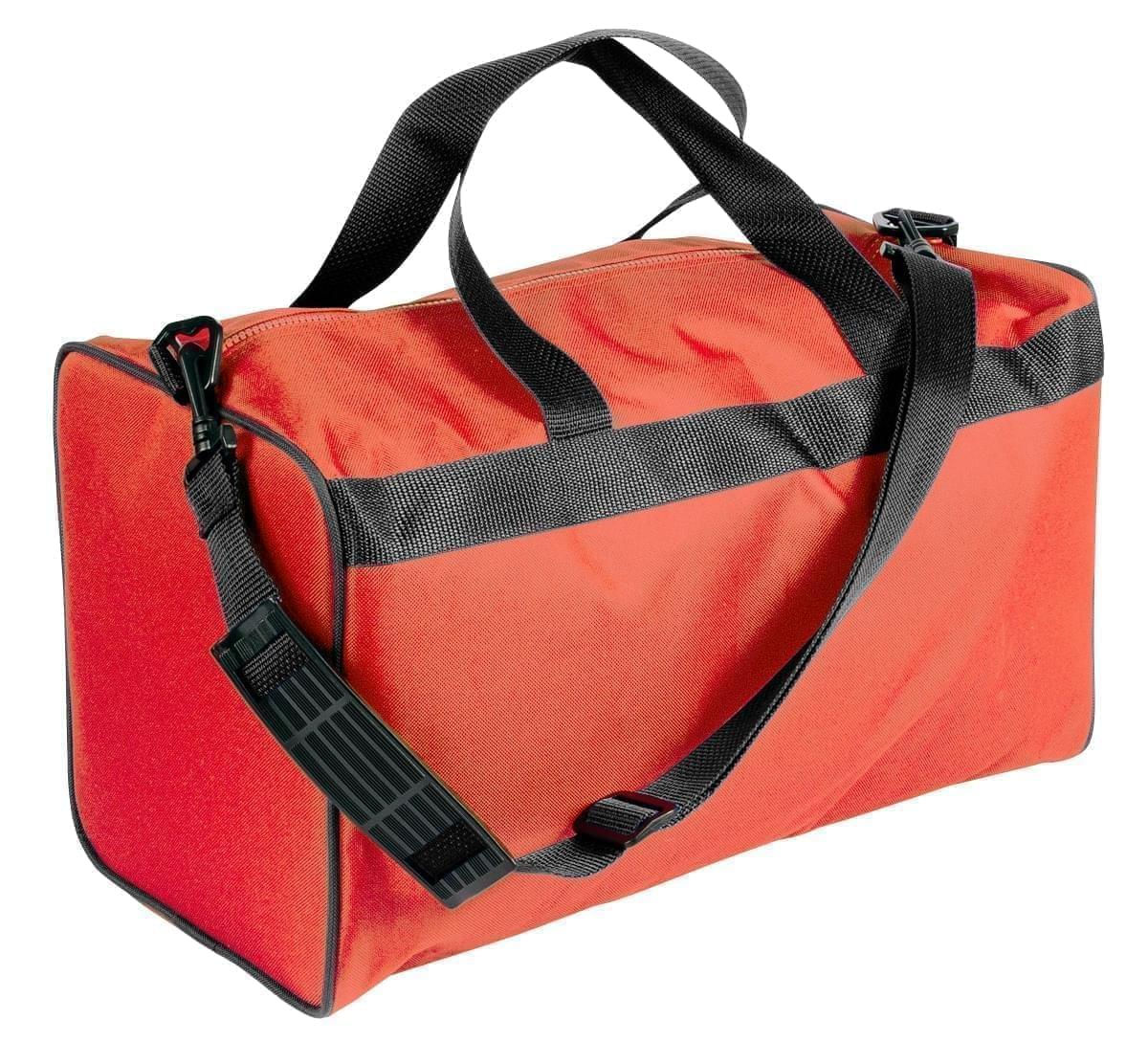 USA Made Nylon Poly Weekend Duffles, Orange-Black, WLKX31AAXR
