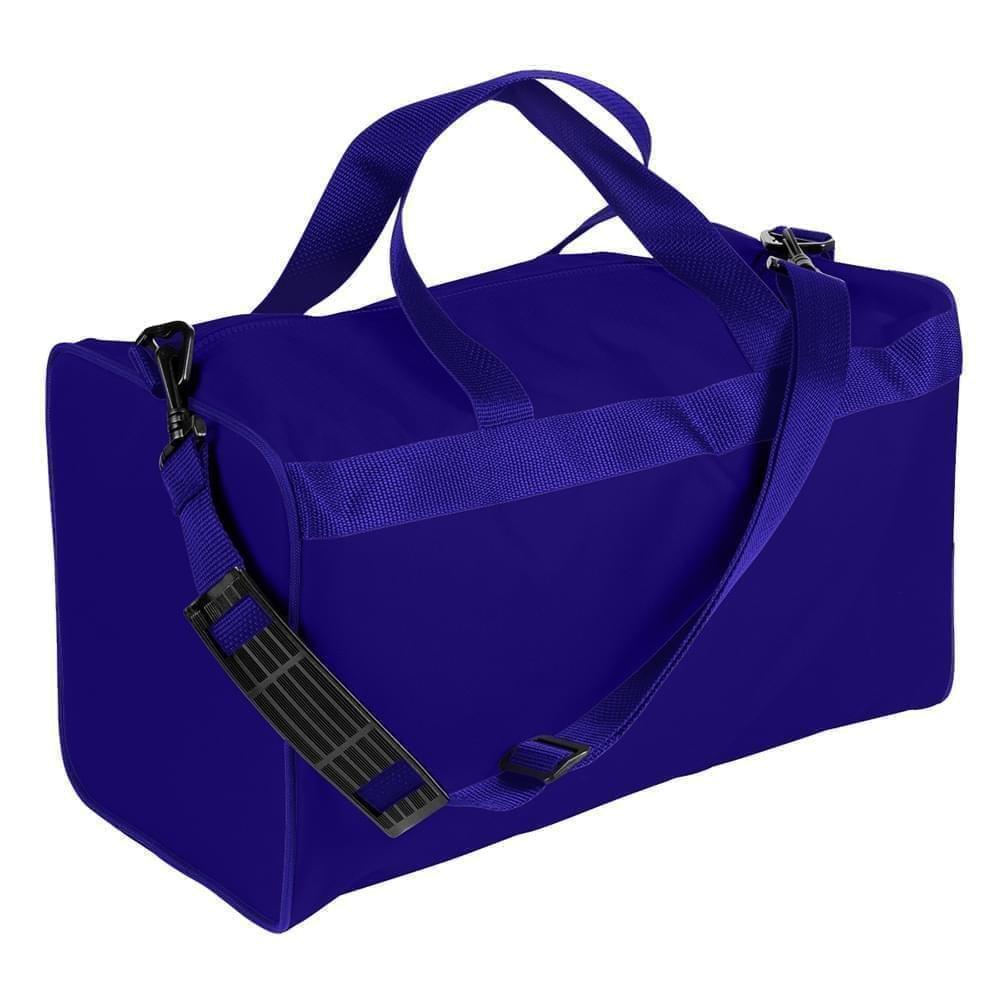 USA Made Nylon Poly Weekend Duffles, Purple-Purple, WLKX31AAY1