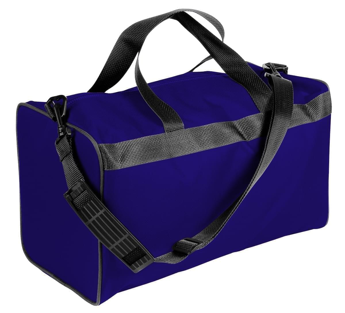 USA Made Nylon Poly Weekend Duffles, Purple-Black, WLKX31AAYR