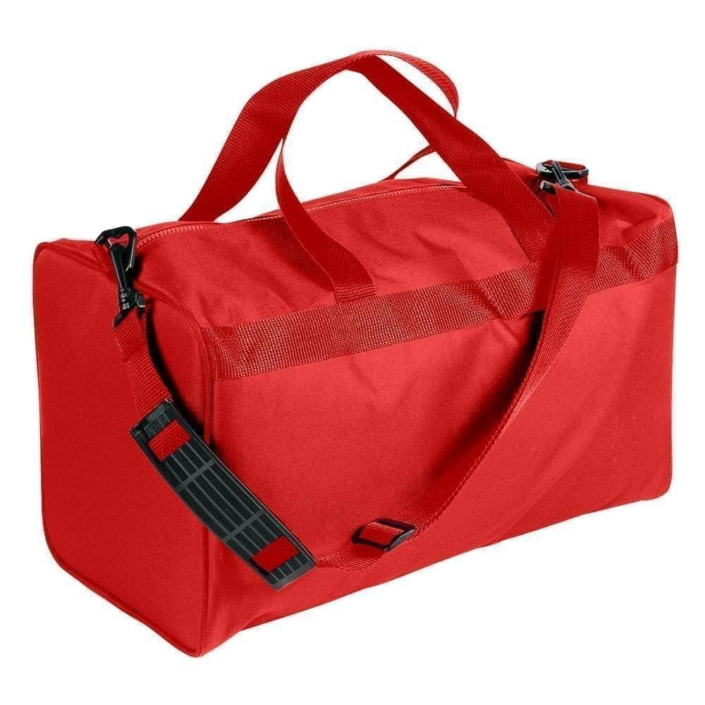 USA Made Nylon Poly Weekend Duffles, Red-Red, WLKX31AAZ2