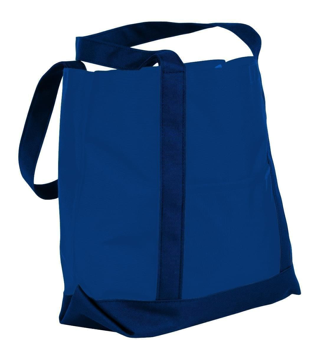 USA Made Nylon Poly Boat Tote Bags, Royal Blue-Navy, XAACL1UA0I
