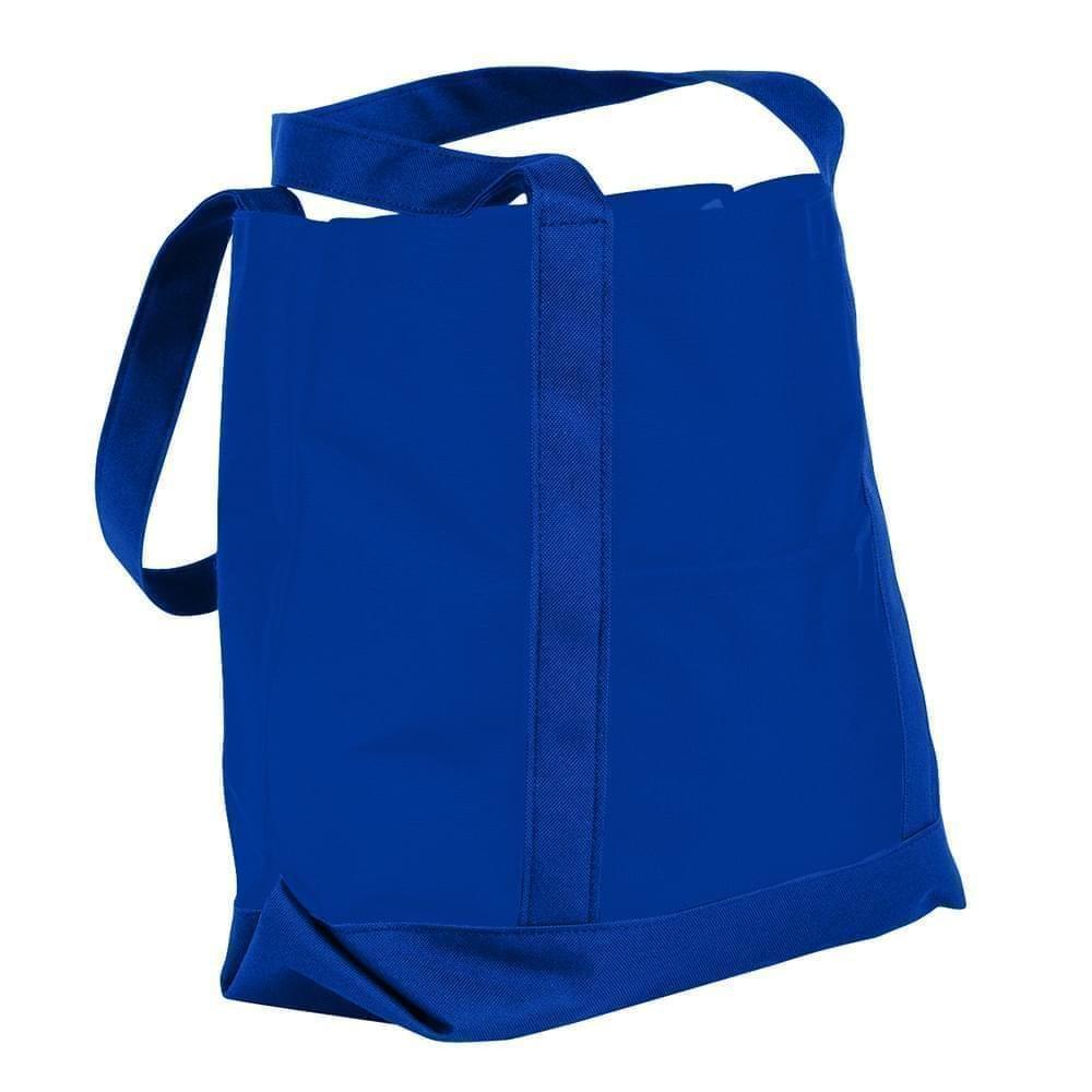 USA Made Nylon Poly Boat Tote Bags, Royal Blue-Royal Blue, XAACL1UA0M