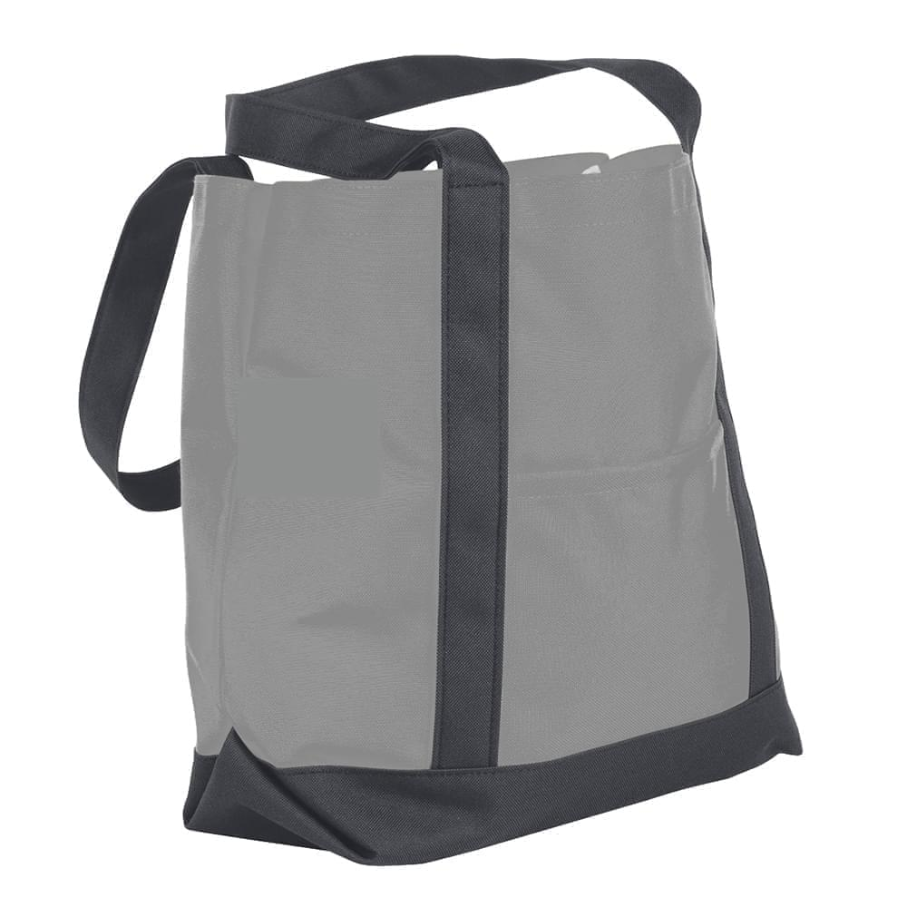 USA Made Nylon Poly Boat Tote Bags, Grey-Graphite, XAACL1UA1F