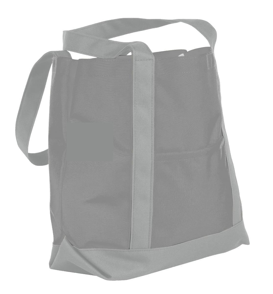 USA Made Nylon Poly Boat Tote Bags, Grey-Grey, XAACL1UA1N