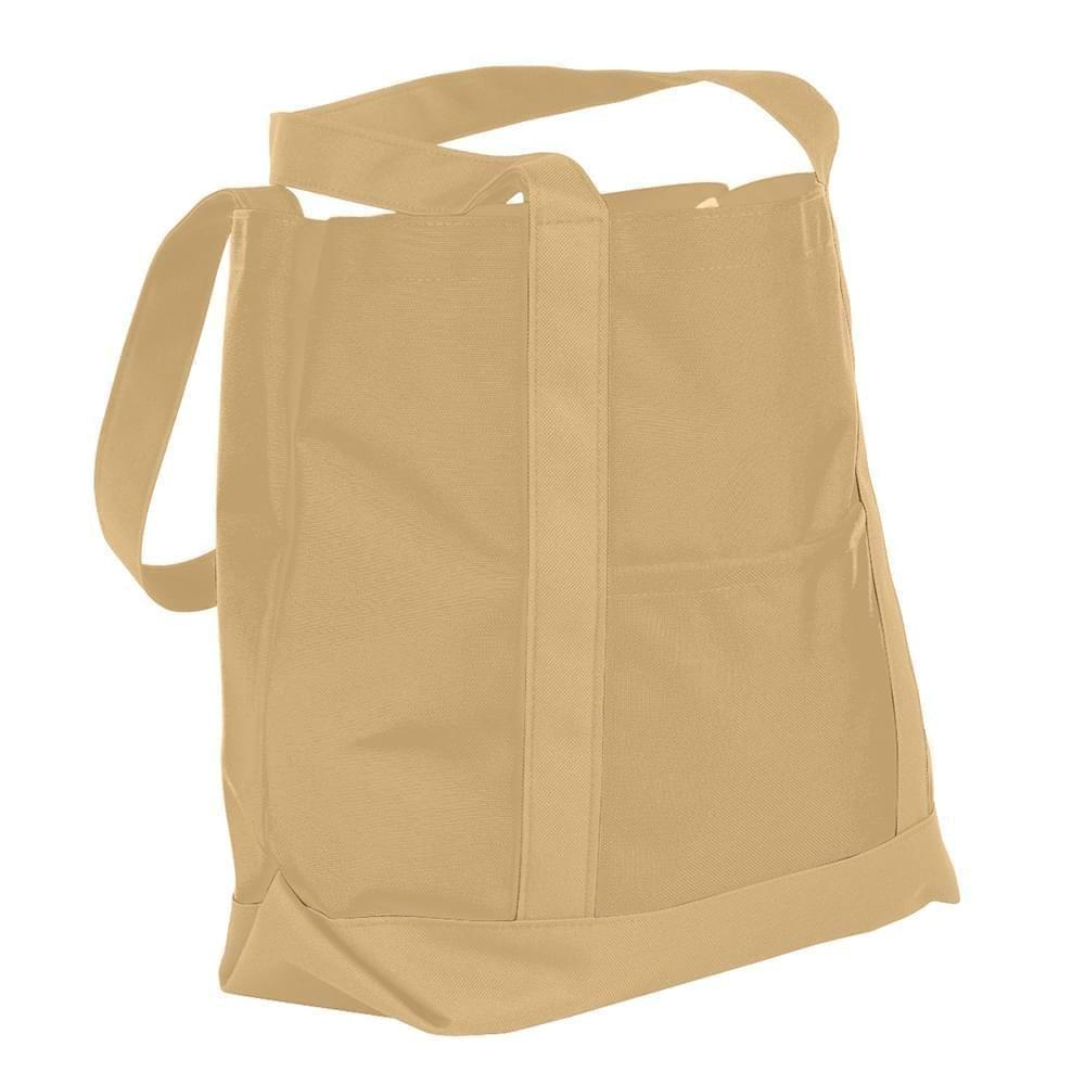 USA Made Nylon Poly Boat Tote Bags, Khaki-Khaki, XAACL1UA2X