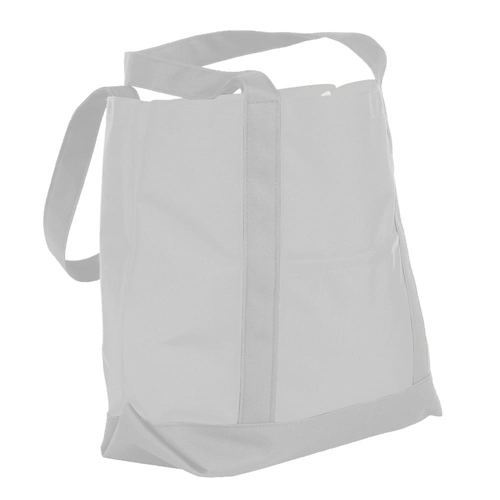 USA Made Nylon Poly Boat Tote Bags, White-White, XAACL1UA3P