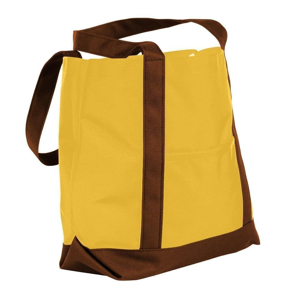 USA Made Nylon Poly Boat Tote Bags, Gold-Brown, XAACL1UA4D