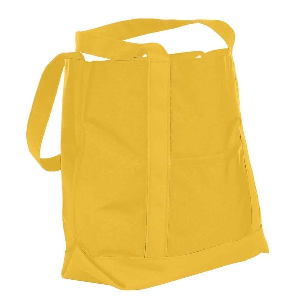 USA Made Nylon Poly Boat Tote Bags, Gold-Gold, XAACL1UA4Q