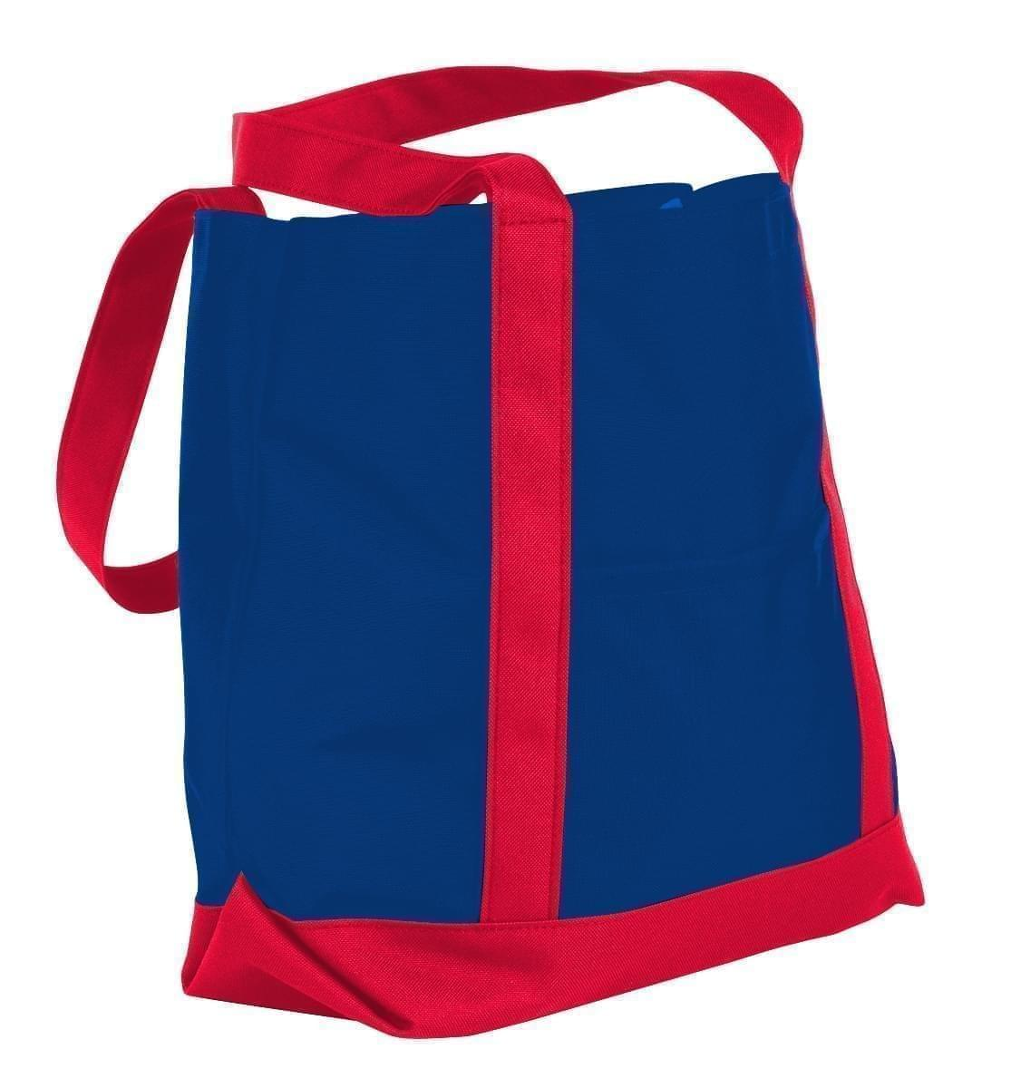 USA Made Canvas Fashion Tote Bags, Royal Blue-Red, XAACL1UAFL