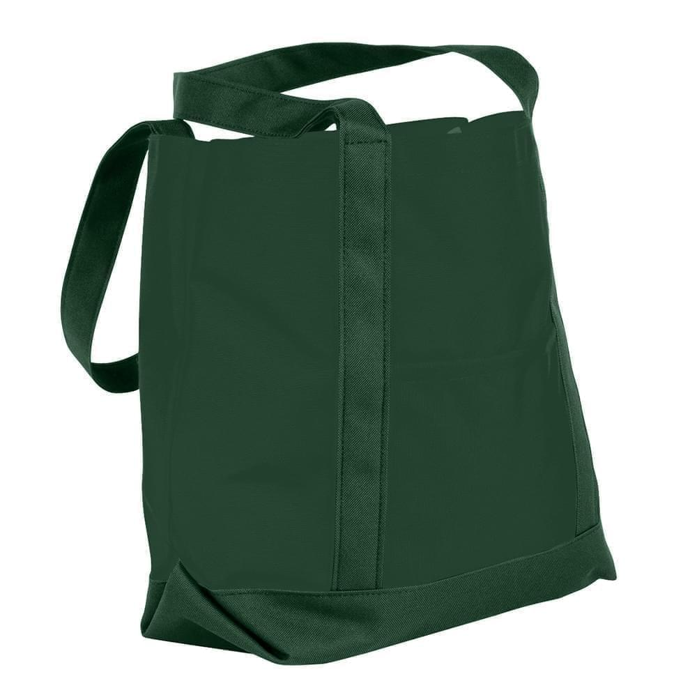 USA Made Canvas Fashion Tote Bags, Hunter Green-Hunter Green, XAACL1UAIV