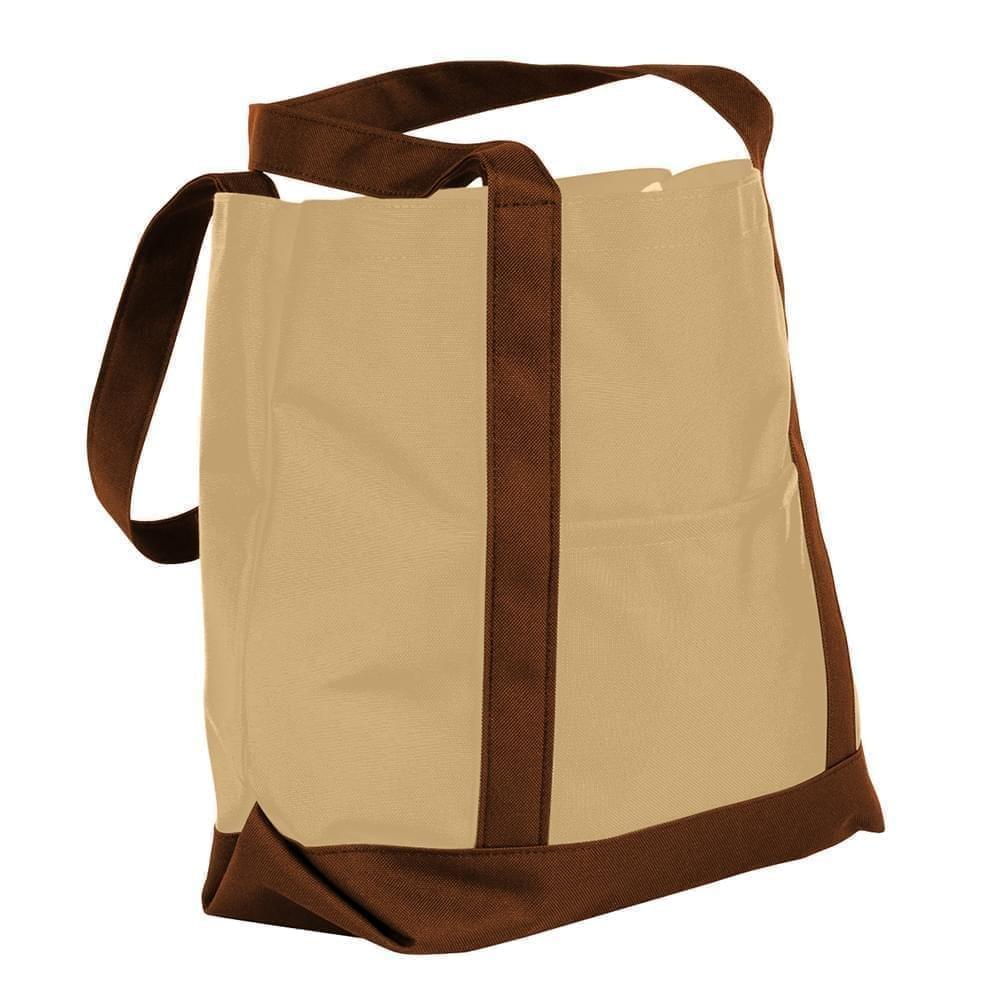 USA Made Canvas Fashion Tote Bags, Khaki-Brown, XAACL1UAJD