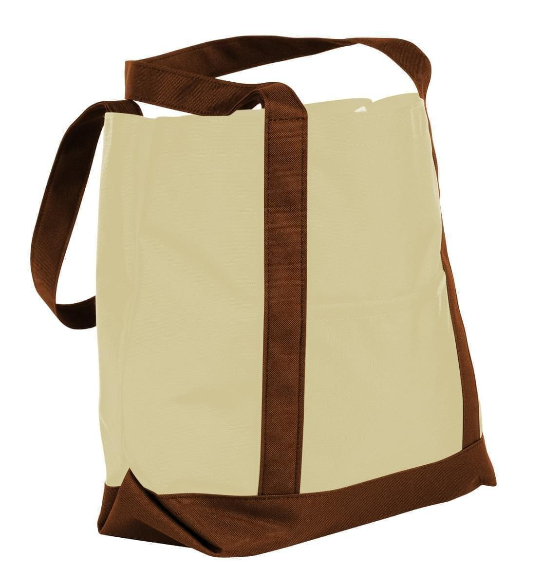 USA Made Canvas Fashion Tote Bags, Natural-Brown, XAACL1UAKD
