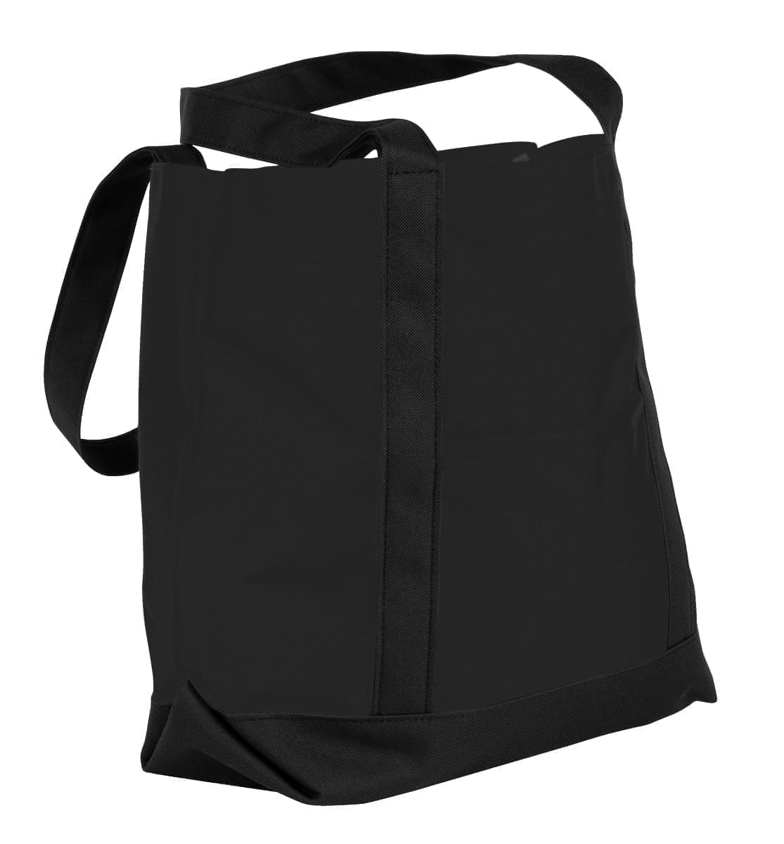 USA Made Nylon Poly Boat Tote Bags, Black-Black, XAACL1UAOC
