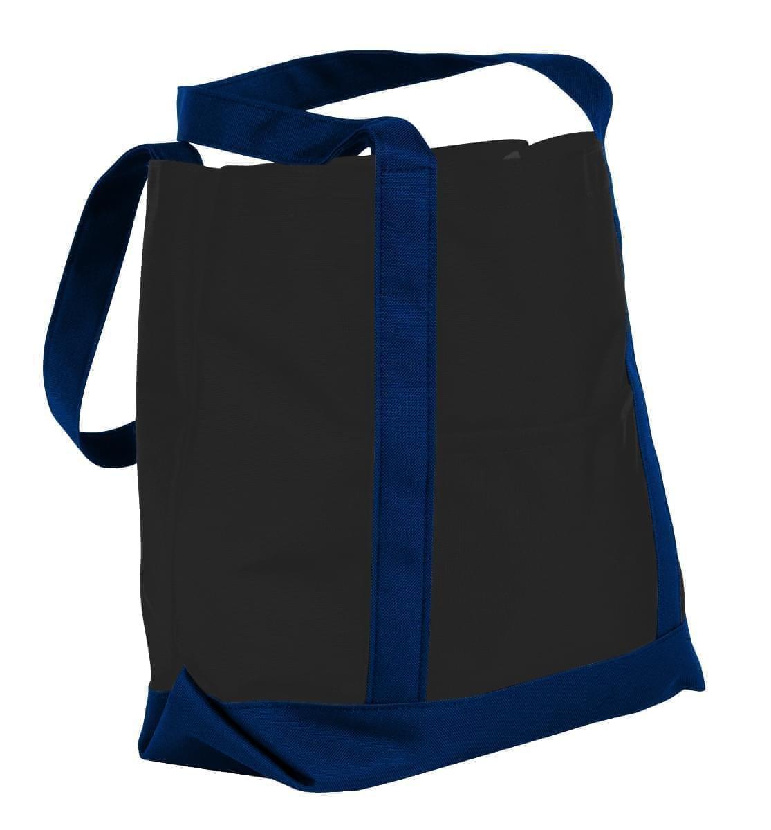 USA Made Nylon Poly Boat Tote Bags, Black-Navy, XAACL1UAOI