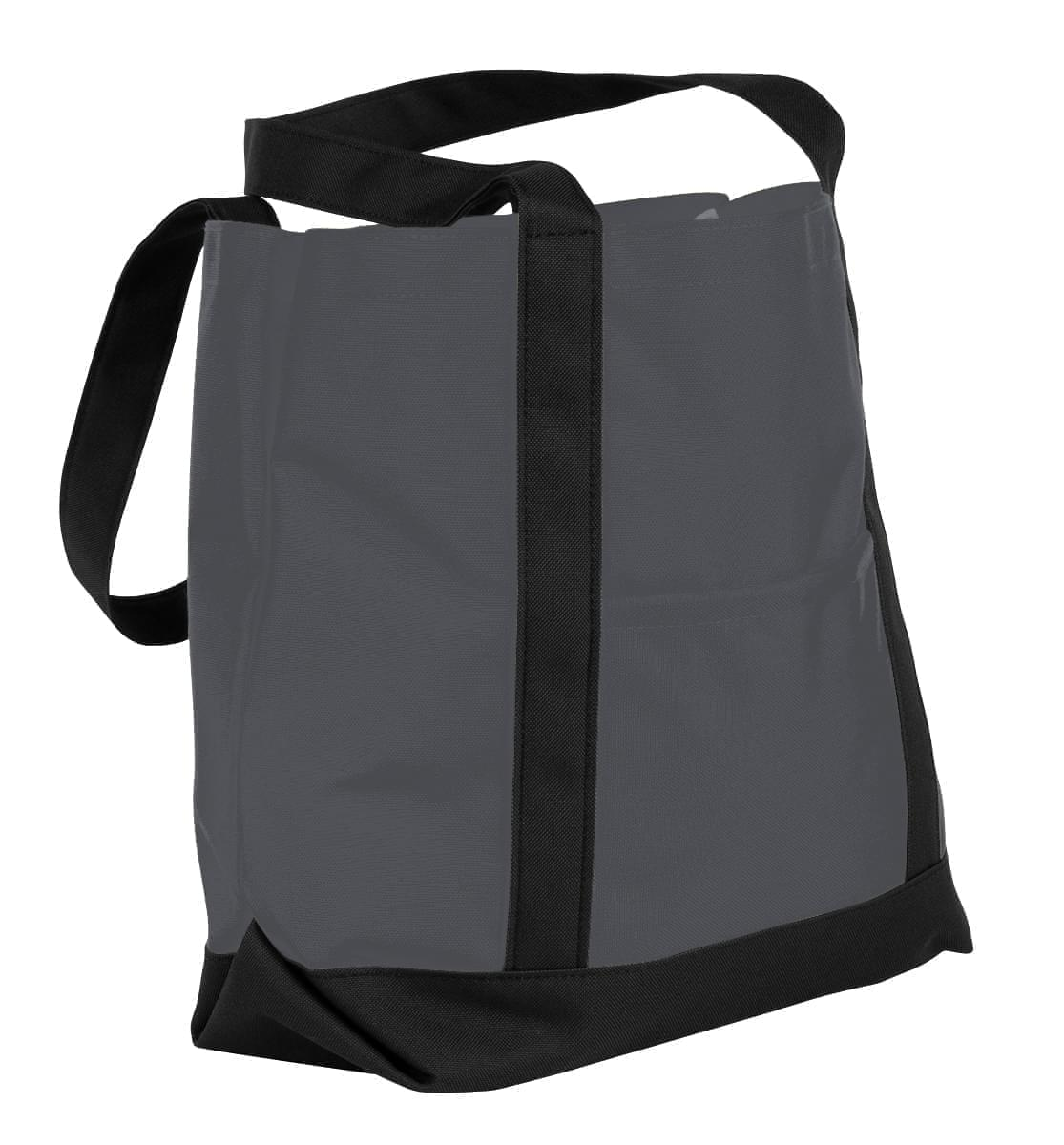 USA Made Nylon Poly Boat Tote Bags, Graphite-Black, XAACL1UARC