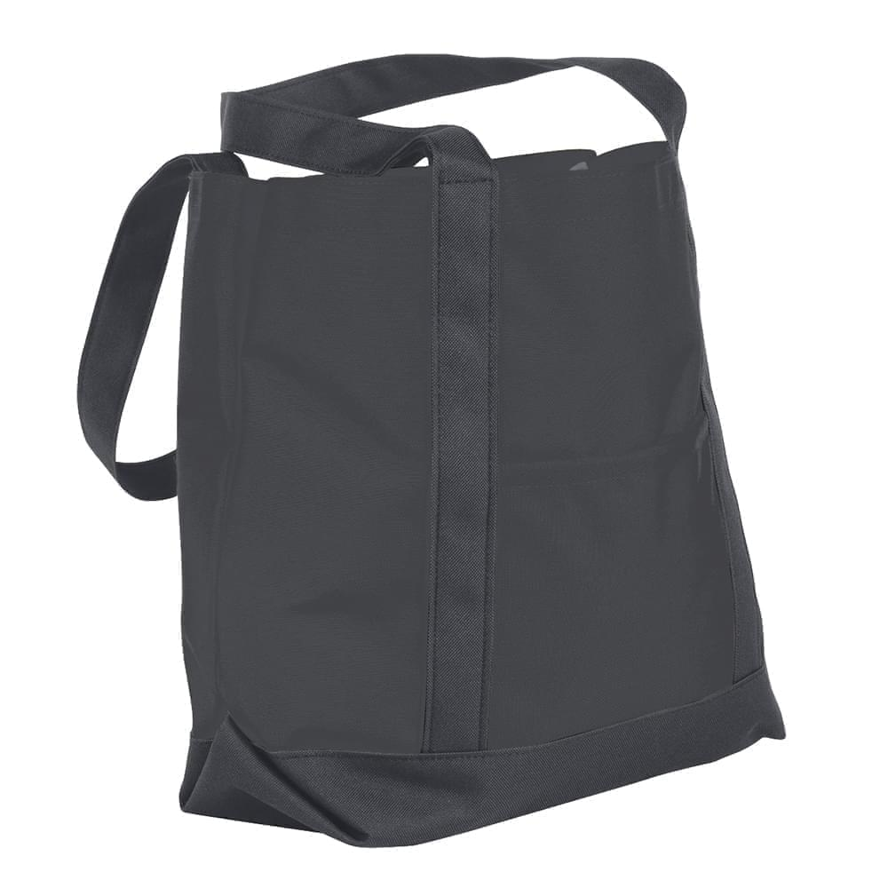 USA Made Nylon Poly Boat Tote Bags, Graphite-Graphite, XAACL1UARF