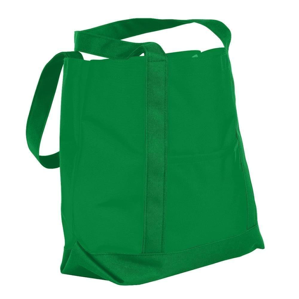 USA Made Nylon Poly Boat Tote Bags, Kelly Green-Kelly Green, XAACL1UATH