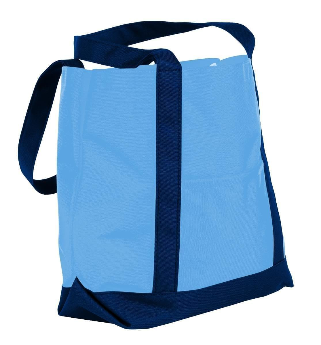USA Made Nylon Poly Boat Tote Bags, Columbia-Navy, XAACL1UAUI