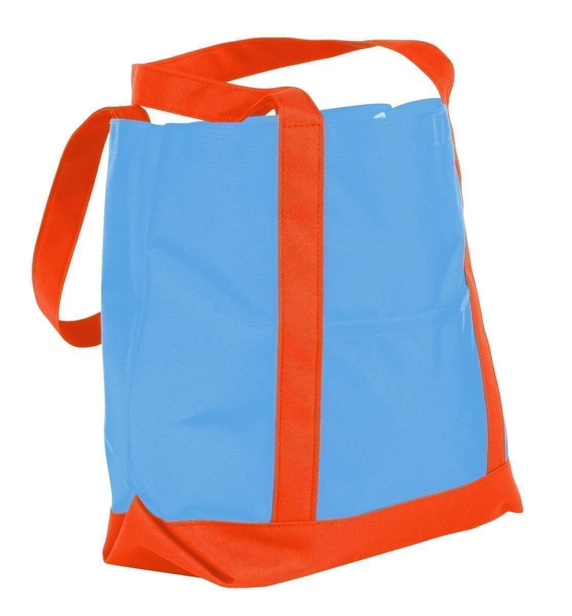 USA Made Nylon Poly Boat Tote Bags, Columbia-Orange, XAACL1UAUJ